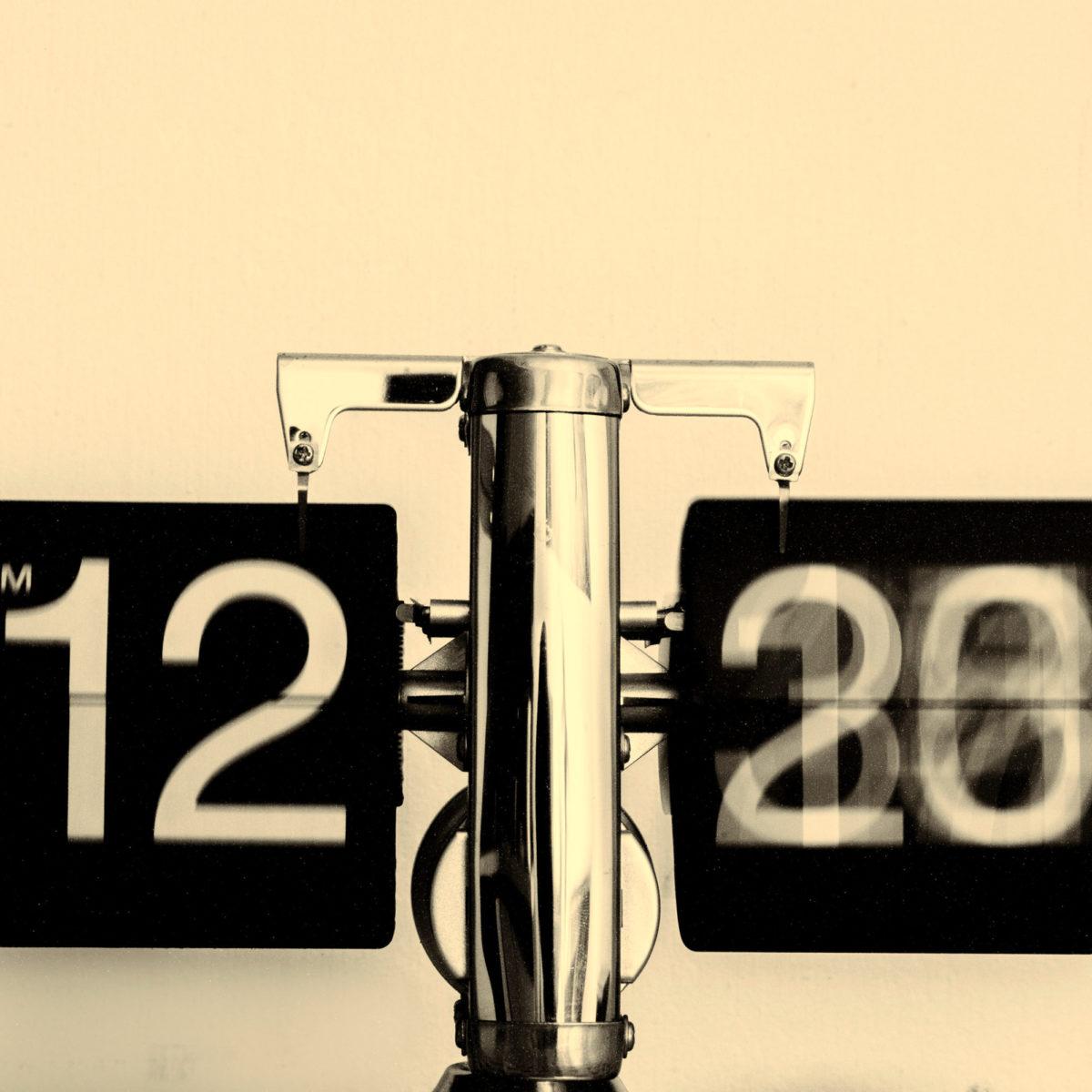 Nahaufnahme einer Uhr